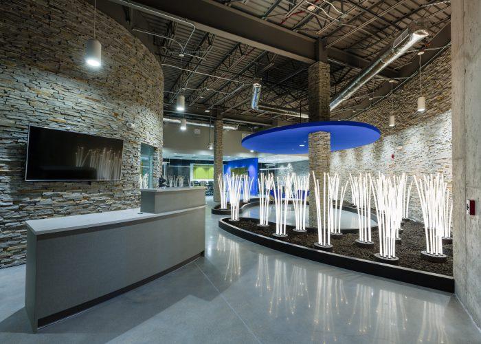 LightEdge Des Moines data center interior lobby